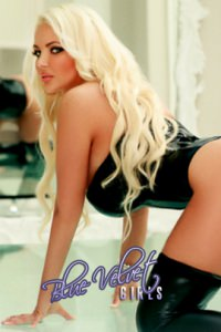 Pamela blonde escort at blue velvet girls